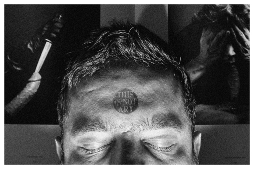 This is not Art (Self portrait over Mapplethorpe)