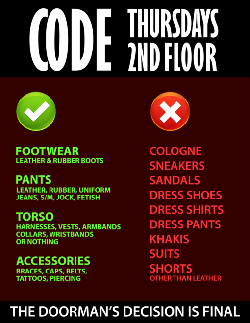 The Eagle NY: Dress Code